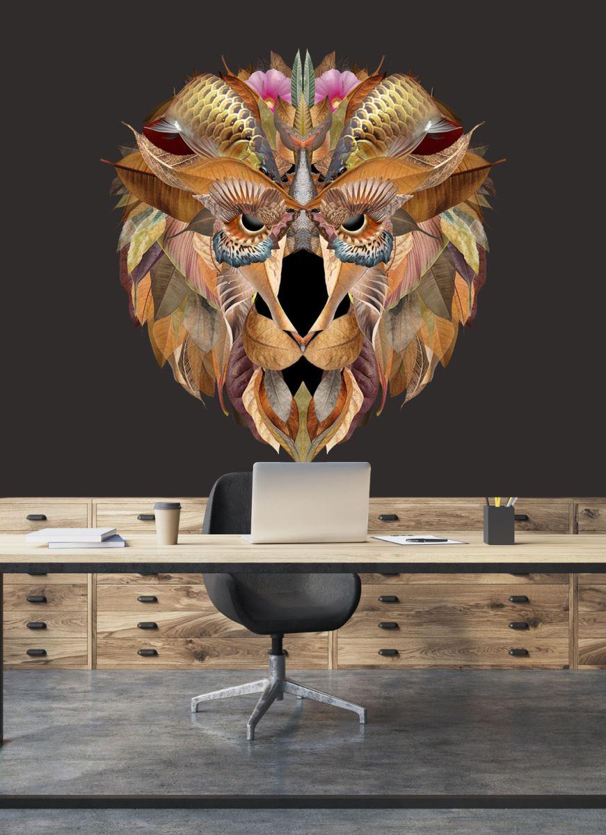 LION / wallpaper 3.50 x 2.50